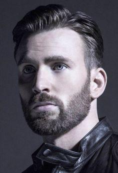 Chris Evans, beard, stoic, 3/4, male drawing model, bust