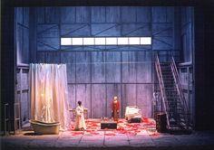 """Roni Toren Stage Design """"Otello"""" / Verdi ,Vlaamse Opera ,(Anrwerpen- Gent) , Belgium ,2001 Conductor : Balazs Kocsar Director : Guy Joosten Set : Roni Toren Costumes : Jorge Jara Lighting : Davy Cunningham Photo : Annemie Augustijns"""
