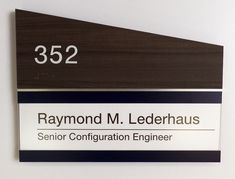 Fusion ADA Interior Room ID Sign Type H with Insert.  #signage
