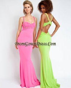 sexy pink prom dresses