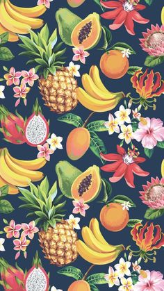 52 New Ideas for fruit wallpaper summer pattern design Iphone Wallpaper Tropical, Iphone Wallpaper Quotes Love, Pineapple Wallpaper, Pineapple Art, Iphone Wallpapers, Cute Wallpapers, Wallpaper Backgrounds, Pineapple Pattern, Trendy Wallpaper