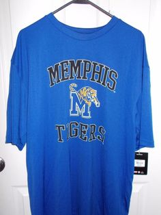 University of Memphis Tigers Blue Mascot Tee SZ XL by Colosseum Athletics NEW #ColosseumAthletics #ShirtsTops