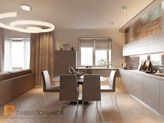 Фото: Интерьер зоны кухни - Интерьер квартиры в стиле минимализм, ЖК «Классика», 130 кв.м.