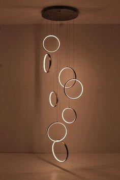 lampen Vide lamp met LED 330cm hoog hanglamp