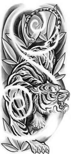 """Képtalálat a következőre: """"tiger tattoo drawing"""""""