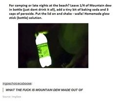 Mt. Dew glow light