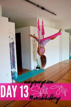 Day 13 Split Flip 30 Day Aerial Yoga Challenge 3 Sign up at MargiePargie.com