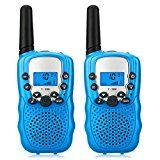 #5: Walkie Talkies ZoiyTop 22 Channel Two Way Radio 3-5 Miles FRS/GMRS Handheld Mini Walkie Talkies for Kids ( 2 Pcs Blue)