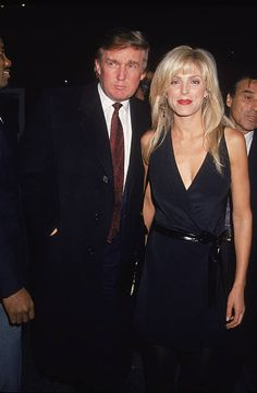 American businessman Donald Trump and his wife Marla Maples attend the premiere of the film 'Nell' directed by Michael Apted New York City May 1994