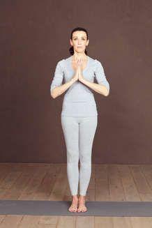 Yoga-Figur Berghaltung