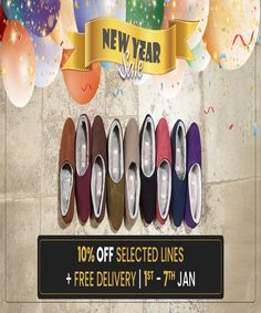 Here's 10% off selected lines plus free delivery in time for New Year. 1st - 7th Jan. No discount code required. Hurry up. Limited time offer! #discounts #shearlingslippers #sale Shearling Slippers, Free Delivery, Fuzzy Slippers