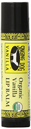Singing Dog Vanilla Organic Lip Balm, 0.15 Ounce (Pack of 24) * See this great product.
