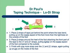 Foot Pain Taping - To ease the discomfort of the broken Sesamoid bones I have.