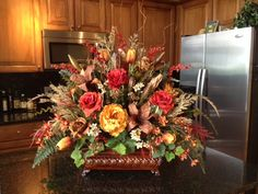 Large Tuscan Floral Centerpiece -  Krista's Floral Creations