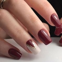 Trendy Nail Art Designs For 2019 - Art des Ongles Trendy Nail Art, Stylish Nails, Classy Nail Art, Gel Nagel Design, Fall Nail Designs, Christmas Nail Designs Easy Simple, Fall Nail Ideas Gel, Easy Christmas Nails, Nail Ideas For Winter