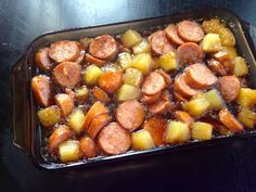 One of my favorite recipes is a dish that my mom always used to make in the summer - a kielbasa pineapple bake with tons of brown sugar. It's so quick and easy to make, and it's pretty flavorful. I...