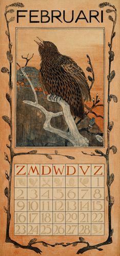 calendar 1902 februari