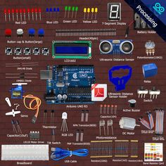 New Ultrasonic Distance Sensor kit for Arduino UNO from Knowing to Utilizing Electronics Mini Projects, Diy Electronics, Processing Arduino, Light Up Dance Floor, Open Source Hardware, Arduino Programming, Garden Tool Organization, Raspberry Pi 2, Pcb Board