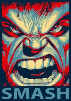 Hulk, in the style of Barack Obamas HOPE poster. Marvel Comics, Marvel Heroes, Captain Marvel, Comic Books Art, Comic Art, Arte Do Hulk, Hulk Art, Red Hulk, Marvel Fan Art