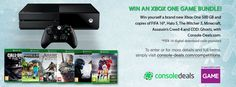 To celebrate the festive season, Console-Deals.com & GAME are offering you the chance to win a brand new 500GB Xbox One Bundle which includes FIFA 16 ( digital ), Halo 5, The Witcher 3: Wild Hunt, Assassin's Creed: Black Flag, Minecraft & Call of Duty: Ghosts. This is a our biggest give away yet!  http://www.console-deals.com/competitions/win-an-xbox-one-bundle/