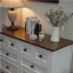 Clean and simple dresser decor Decor, Painted Bedroom Furniture, Furniture Makeover, Refurbished Furniture, Dressers Makeover, Furniture, Bedroom Decor, Home Decor, Room Decor