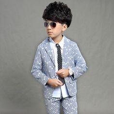 8da53ac53 ActhInK Boys New Striped Wedding Suit Brand Boys Blazer+Pant Dress Suit  Kids Formal Party Wear Children Clothing Set,