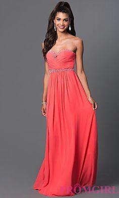 Floor Length Strapless Corset Back Dress by Elizabeth K  at PromGirl.com