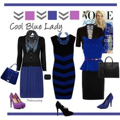 """Cool Blue Lady"" by professionality on Polyvore"