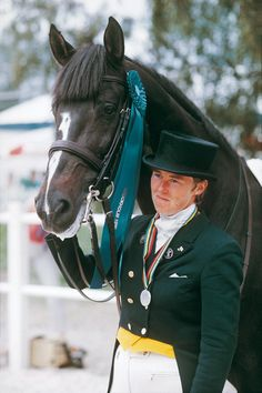 Kyra Kyrklund's black Danish stallion Matador was voted as a greatest dressage horse ever in Global Dressage Forum's voting