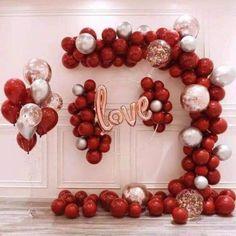 Rose Gold Balloons, Black Balloons, Red Balloon, Balloon Arch, Balloon Garland, Latex Balloons, Balloon Decorations, Valentines Balloons, Christmas Balloons