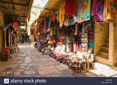 95f2ca21 Download this stock image: Israel Jerusalem Old City Christian Quarter  typical souvenir shops stores multi