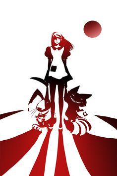 by Sho Murase [wonderland][Alice, Cheshire Cat, white rabbit]