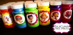 Set of  25  Bubble Guppies Stickers  for Bubbles by SugarTreePress, $16.25