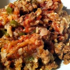 Crockpot cabbage casserole.....think this is what my sister calls inside- out cabbage rolls...can also be done in the oven.