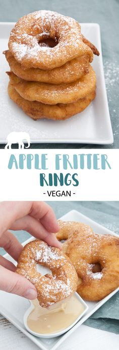 Vegan Apple Fritter Rings | ElephantasticVegan.com #vegan #apple #fritter #dessert #sweet via @elephantasticv