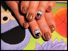 Cookie Monster Nails!