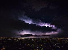 Bergamo night storm