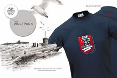 Rescue T - shirt design U -boot. The type VII submarine was the most mass-produced design of all time. It was based on the UB III design from WWI. Using the Wolfpack strategy of massed attacks on conwoys, they dominated the shipping routes of the North Atlantic until radar and sophisticated Allied defense tactics ended their reign.  http://www.rescuefashion.com/en/%7BT-SHIRTS%7D15-u-boot.html#/size-m/color-navy_blue