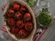 Mehustettua tomaattia ja rucolapestoa | Aitoa arkiruokaa