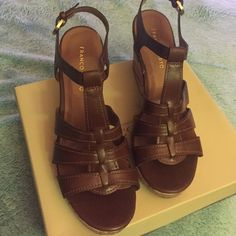 Franco Sarto brown wedge sandal Franco Sarto brown wedge sandal Shoes Sandals