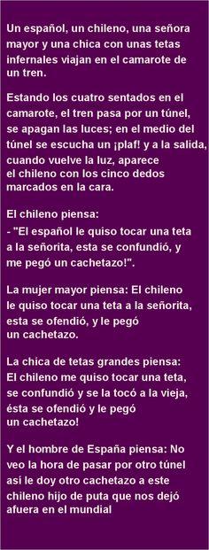 Un español, un chileno, una señora