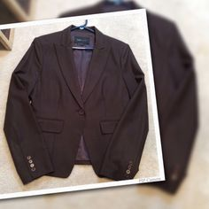 BCBGMAXAZRIA brown fully lined blazer Used a few times, in excellent condition. 96% wool, 4% spandex.  Lining 55% poly, 45%rayon. No flaws whatsoever. BCBGMaxAzria Jackets & Coats Blazers
