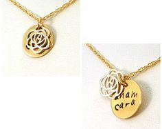 Anam Cara Hidden Message Necklace in Gold & Silver / Mixed Metal Anam Cara Necklace / Best Friend Necklace / Gift for Wife / Soul Friend