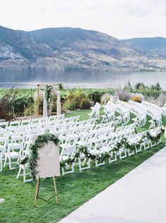 scenic wedding ceremony on a lake. #Canadianwedding
