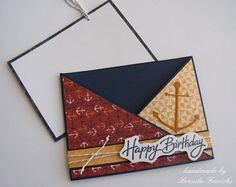 Crafting with Joanie: How to Make a Modified Criss Cross Fold Card