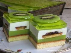 Idealne ciasto na lato lekko słodkie i orzeźwiające Polish Desserts, Polish Recipes, Shrek, Homemade Cakes, Cake Cookies, Breakfast Recipes, Cake Recipes, Food Porn, Food And Drink