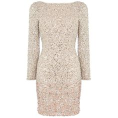 Coast Lydie All Over Sequin Dress, Blush (16.825 RUB) ❤ liked on Polyvore featuring dresses, maxi dress, long sleeve cocktail dresses, midi dress, pink bodycon dress and bodycon dress