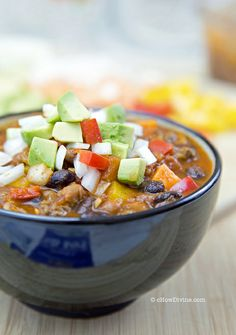#HealthyRecipe / Skinny Sweet Potato and Bean Chili