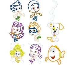 bubble guppies cake stencils   Bubble Guppies Outlines! I could print these out on freezer paper and ...