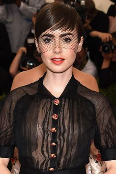 The best Met Gala beauty: Lily Collins' Hepburn-old-Hollywood glamour.